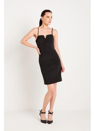 Rue İp Askılı Abiye Elbise Siyah